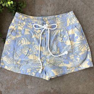 Free People High Waist Tropical Drawstring Shorts